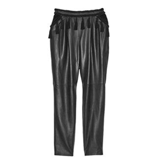 Nora Tasseled Leather Trousers