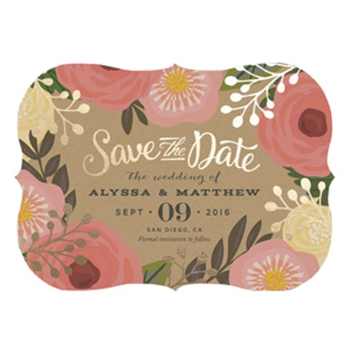 Floral Canopy Save the Date