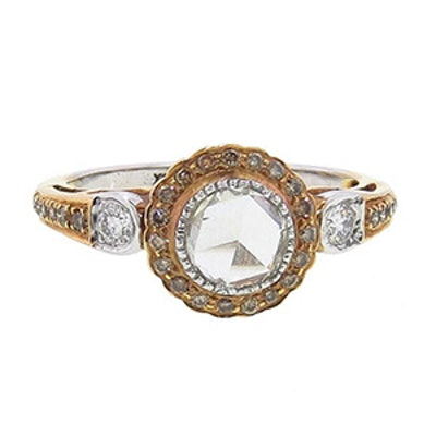 Rose And White Gold & Diamond Ring