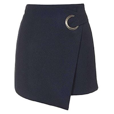 Eyelet Wrap Mini Skirt