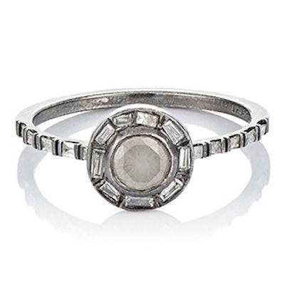 Platinum & Rose Cut Diamond Ring