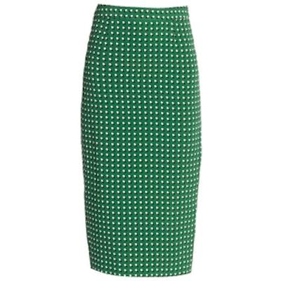 Bell Pill-Print Pencil Skirt