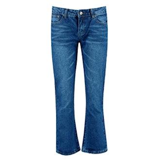 Jasmine Cropped Kick Flare Jeans