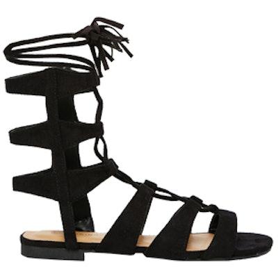 Villamor Ghillie Lace Up Tassle Flat Sandals