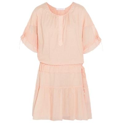 Cotton-Gauze Mini Dress