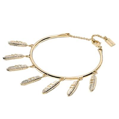 Pave Multi Feather Bracelet