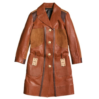 Combo Leather Coat