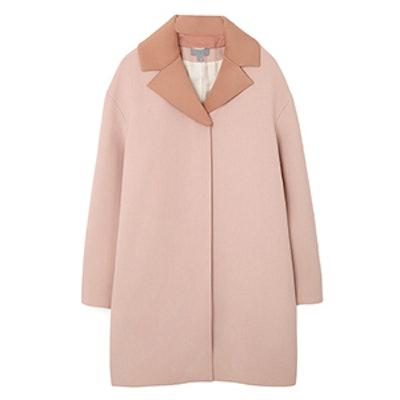 Coat with Detachable Lapel