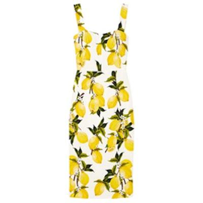 Printed Cady Mini Dress