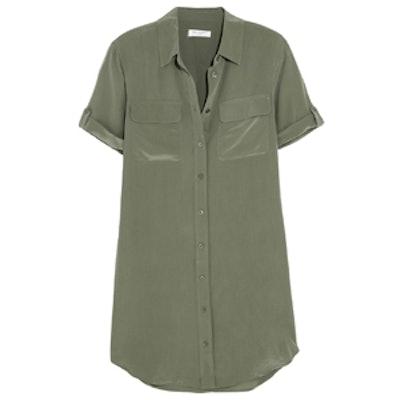 Signature Washed-Silk Shirtdress