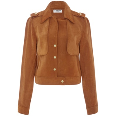 Le Cropped Suede Trench Jacket