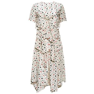 Star Print Knot Detail Dress
