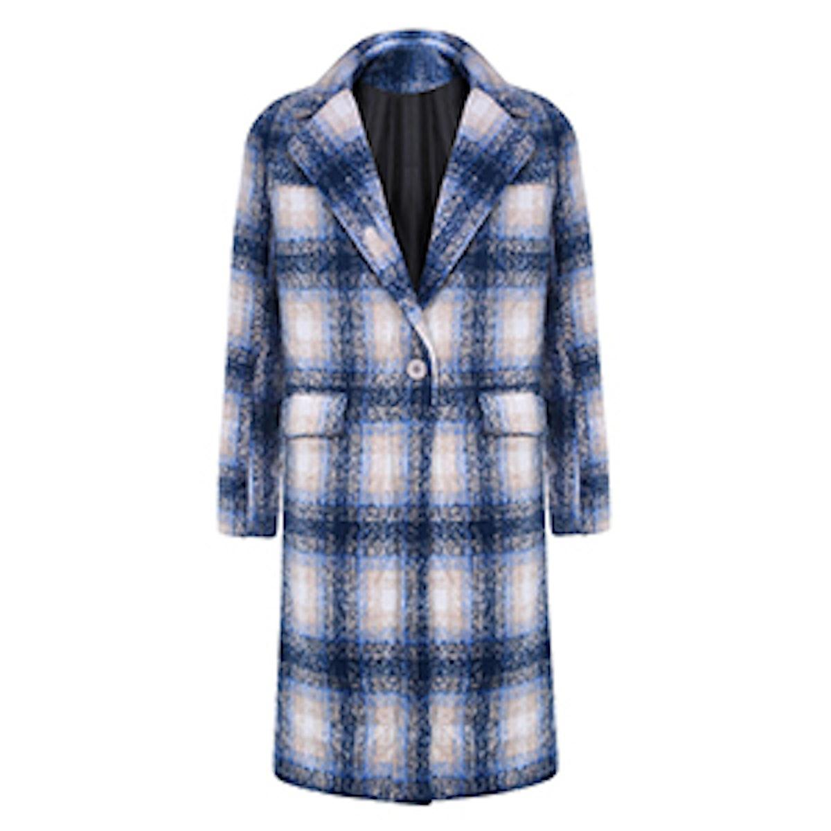 Tartan Plaid Maxi Coat