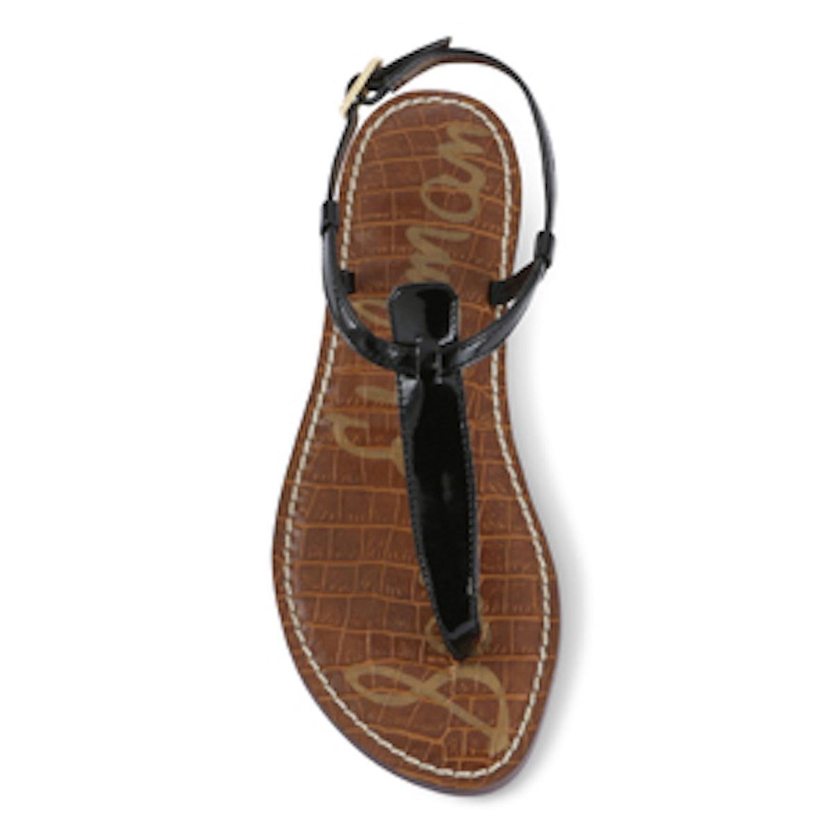 Gigi Thong Sandal In Black Patent