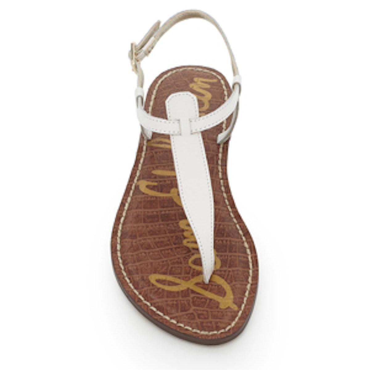 Gigi Thong Sandal In Bright White Leather