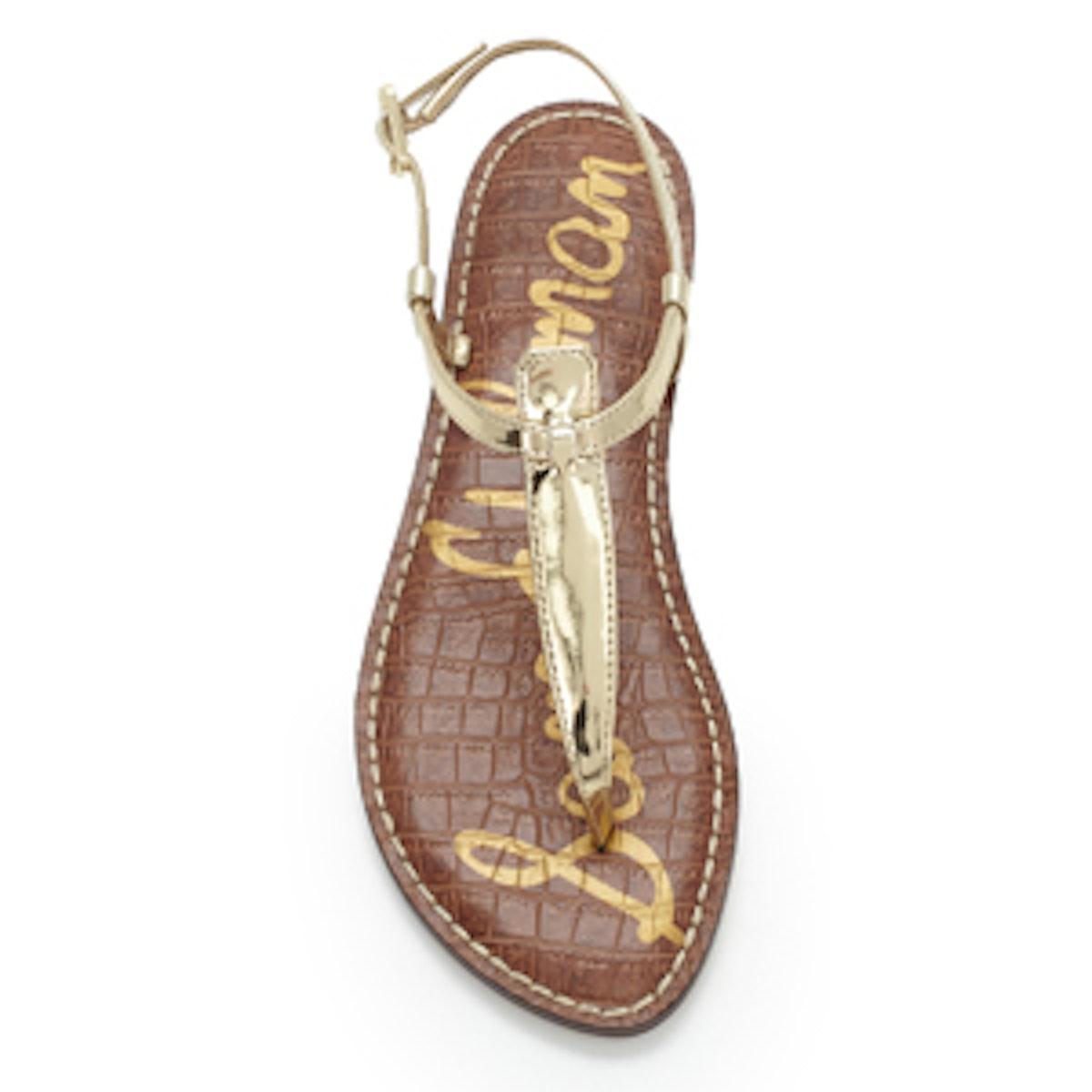 Gigi Thong Sandal In Gold Metallic