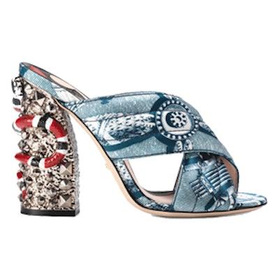 Romain Satin Crossover Sandal