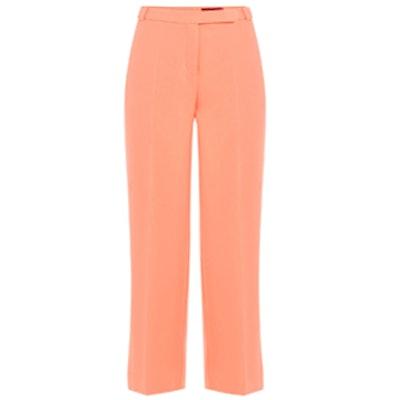 Cropped Crepe Pants