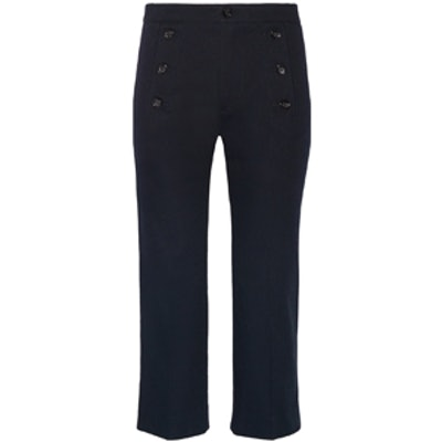 Macey Cropped Cotton-Twill Pants
