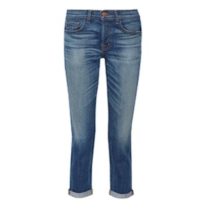 Georgia Mid-Rise Slim Boyfriend Jeans