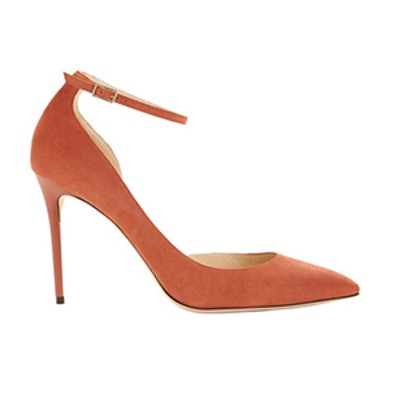 Lucy ½ D'Orsay Suede Pump