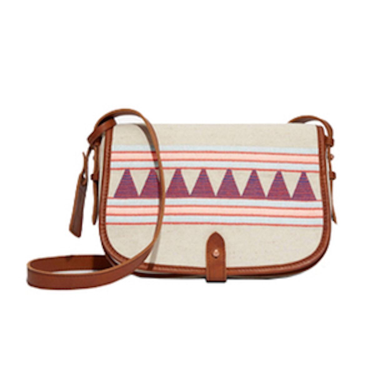 Embroidered Saddle Bag