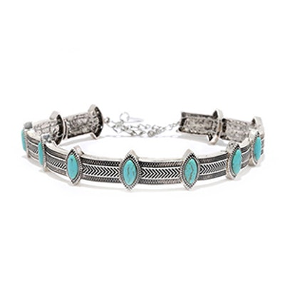 Cactus Garden Turquoise and Silver Choker