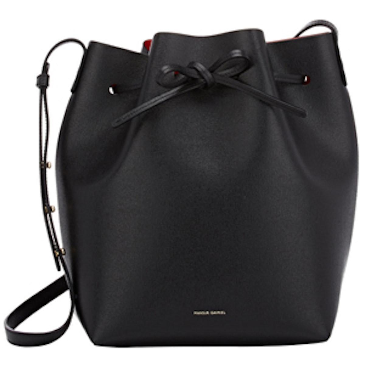 Large Leather Bucket Bag