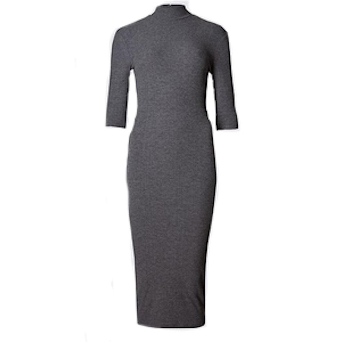 Funnel Neck Bodycon Dress