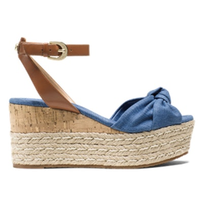 Maxwell Denim and Leather Wedge