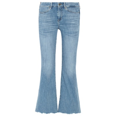 Lou Cropped High-Rise Flared Jeans