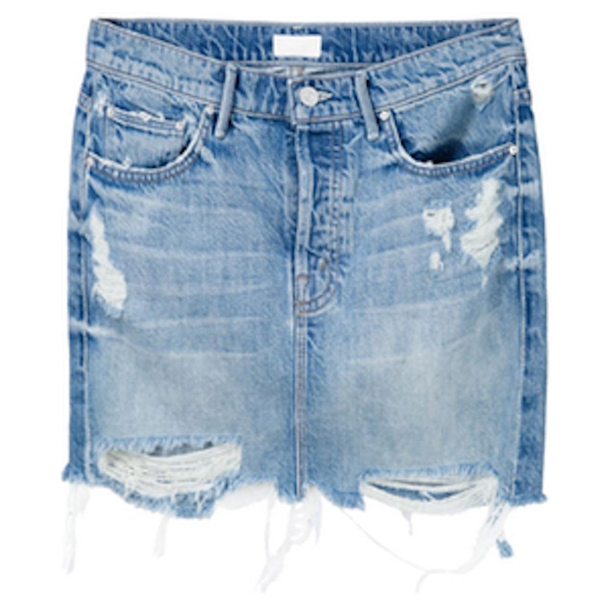 Vagabond Mini Fray Denim Skirt