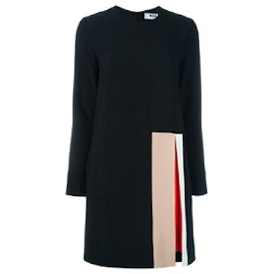 Colour Block Front Slit Dress