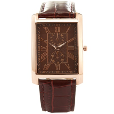 Rose Gold Croc Strap Watch