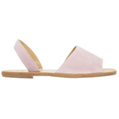 Evey Suede Two Part Flat Sandals