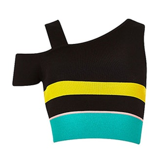 Stripe Knitted Asymmetric Top