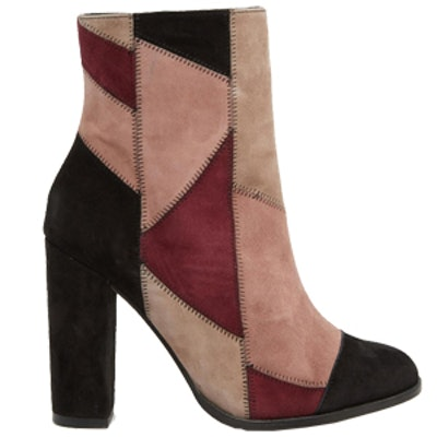 Mix Suede Patchwork Boot