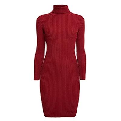Claudia Ribbed Turtleneck Dress