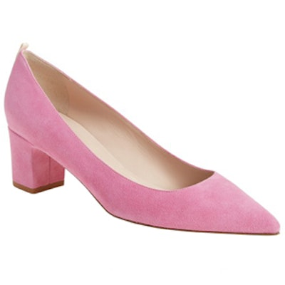 Pointy Toe Block Heel Pump