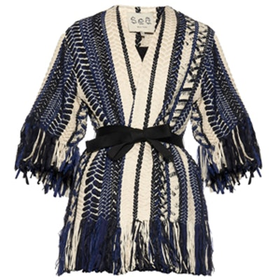 Braided Fringe-Embellished Jacket