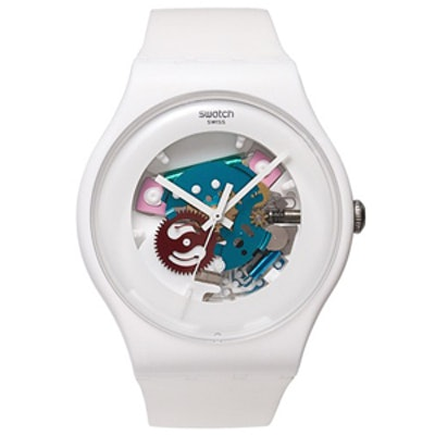 White Lacquered Watch