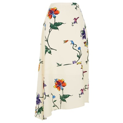 Bella Floral Asymmetrical Skirt