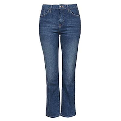 Moto Dree Crop Kick Flare Jeans