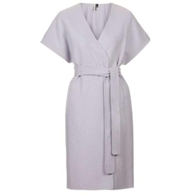 Seamed Wrap Kimono Coat