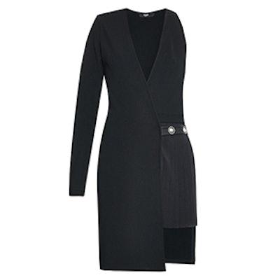 Asymmetrical Dress With Button Detail