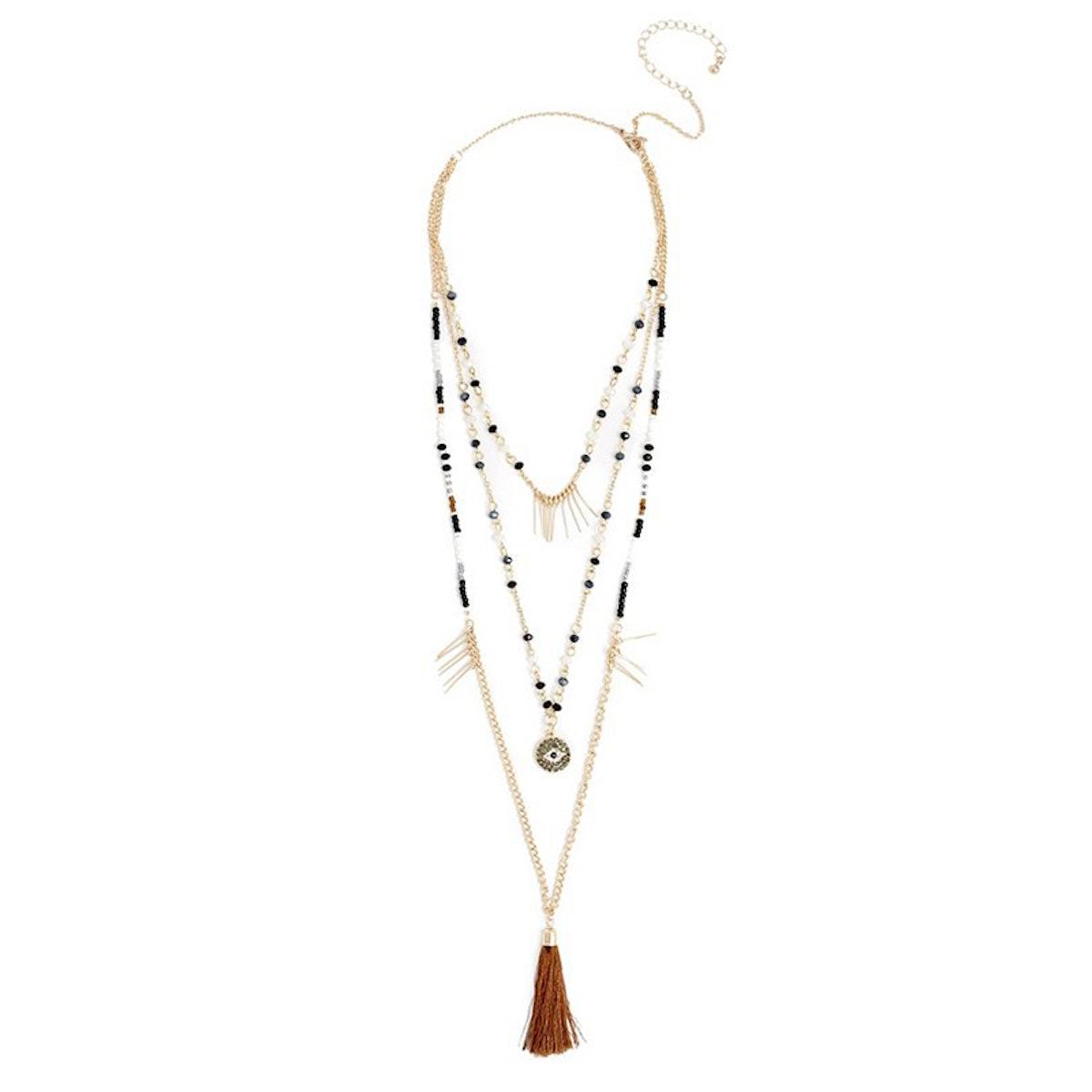 Camila Evil Eye Tassel Necklace
