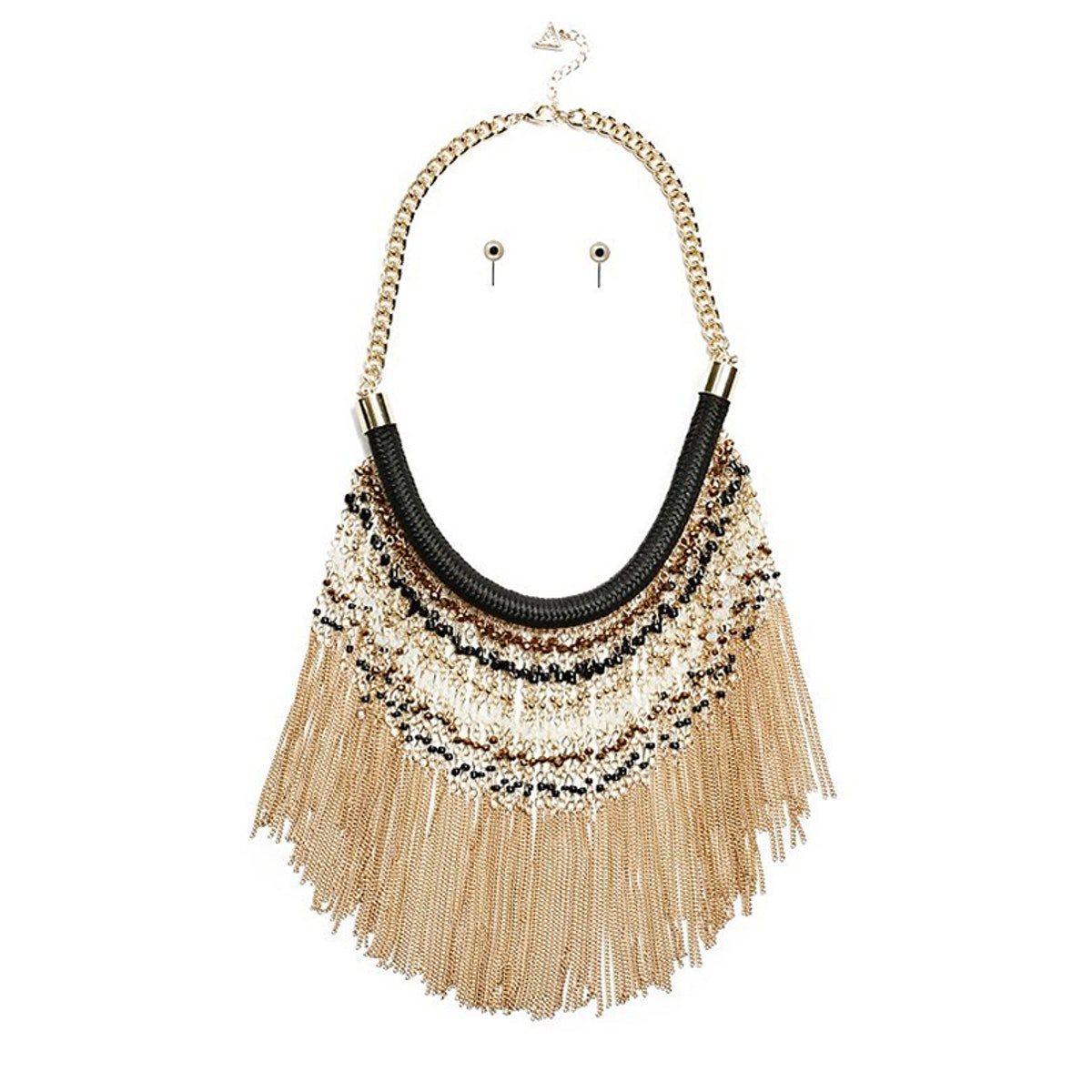 Renee Gold-Tone Necklace and Earrings Set