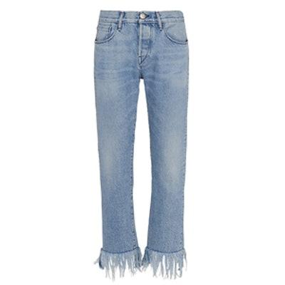 WM3 Straight Crop Fringe Jeans