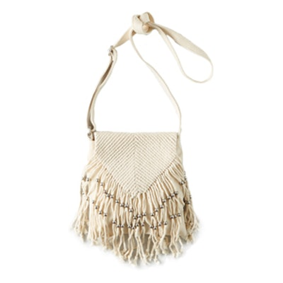 Crochet + Bead Crossbody Bag