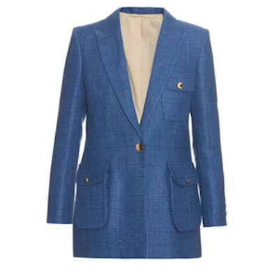 Touch Of Class Single-Breasted Linen Blazer